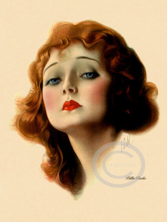 Dreamy Art Deco Boudoir Print Billie Burke Portrait Movie