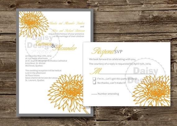 Sunflower Wedding Invitations gangcraftnet – Sunflower Wedding Invite