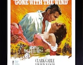 Gone With The Wind Framed A4 Movie Poster in Black Frame