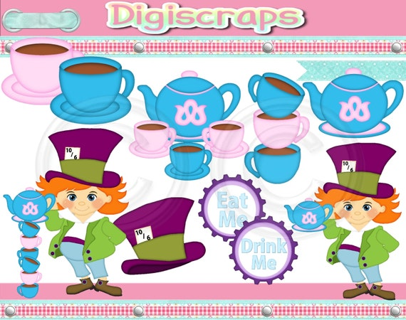 mad hatter tea party clip art - photo #40