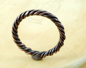 """COPPER """"ROPE"""" RING - Architectural Ring - Copper Ring - Ring Band - Customize Your Ring - Wedding Band - For Man, Woman & Child!"""