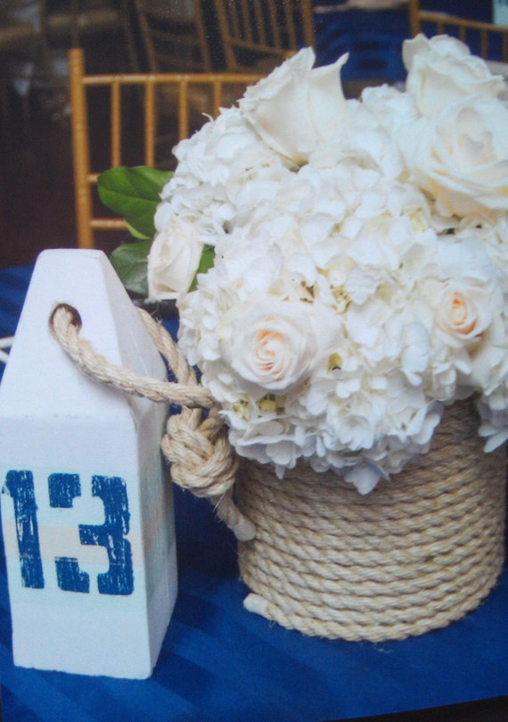 Wedding Table Numbers. Wood Buoy. Lobster Buoy. Nautical. Ocean & Lake Decor. Wedding Table #. Made to Order