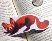 Super happy red panda sticker or magnet