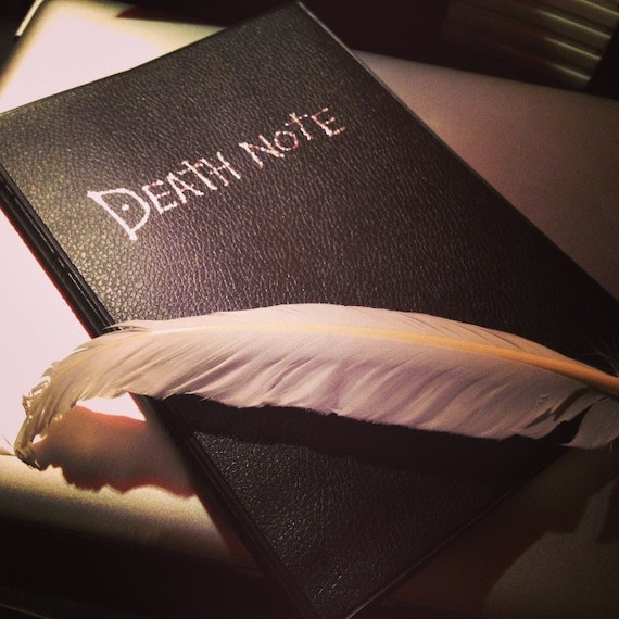 Death Note Notebook Set Of 2 Pieces With Feather Pen By