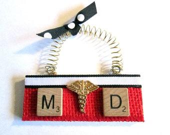 MD Doctor Scrabble Tile Ornament