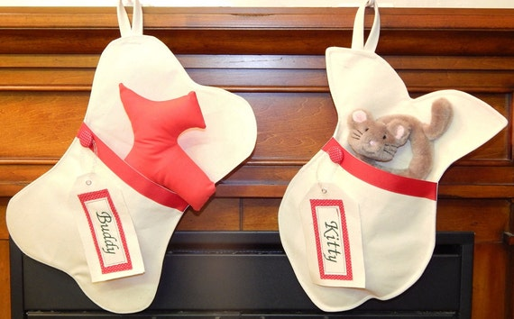 Personalized dog or cat christmas stocking free by for Personalized dog christmas stocking