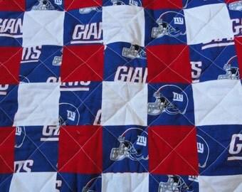 New York Giants full size quilt
