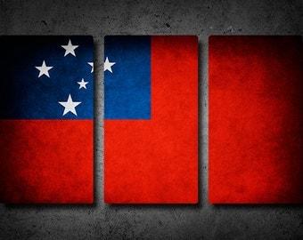 Samoa Flag Triptych