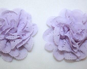 "3"" Lavender Eyelet Flowers 2 Pieces"