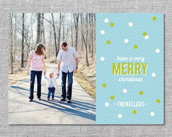 Photo Holiday Card   DIY Printable or Printed   Have a Very Merry Christmas   5x7
