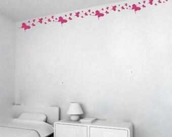Butterfly border - vinyl wall decor (some assembly required)
