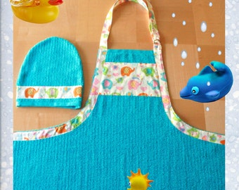 Baby Apron Towel with Matching Washmitt