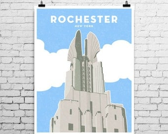 Times Square Building, Rochester New York, Art Print