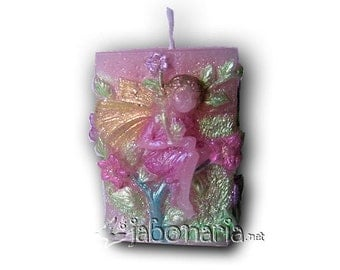 Candle flower fairy pink