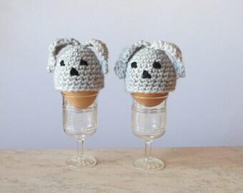 """Hand Crochet Egg Cozy """"Easter Bunny"""" - Easter Egg Hats - Spring Egg Cozies - Egg Warmers - Easter Decor – Home Decor"""