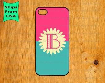 iPhone 6 Plus Case, iPhone 6 Case, Flower Pattern Monogram iPhone 5s Case, iPhone 5c Cover, iPhone 4 4s Cases,iPhone SE Case