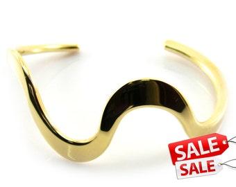 Gold Cuff Bracelet Gold Bracelet Cuff Gold Brass Cuff Bracelet Gold Brass Bracelet Cuff Gold Curve Bracelet Cuff Curve Cuff Bracelet 032