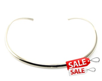 Silver Choker Nacklace Silver Collar Necklace Silver Necklace Brass Choker Necklace Brass Necklace Brass Collar Necklace 083