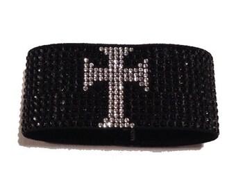 Stylish Cross Wristband / Fashion Bracelet by Blingcons