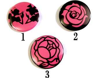 Revolutionary Girl Utena Themed Pinback Buttons