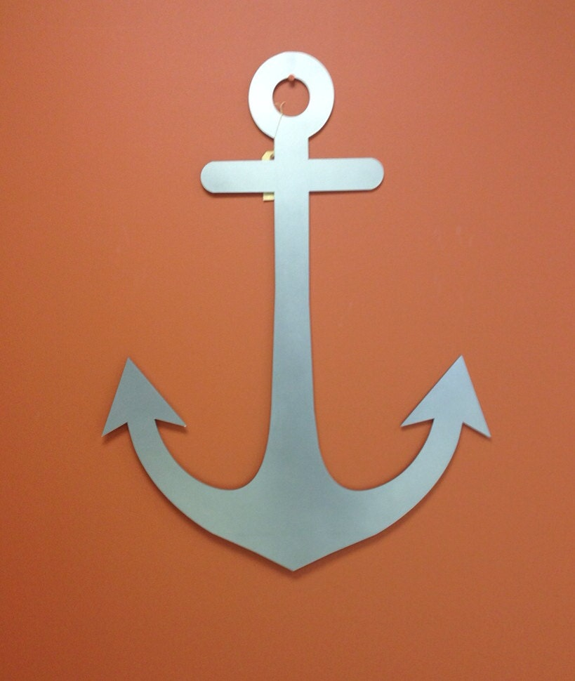 Anchor Wall Decor Metal : Nautical marine anchor metal wall art