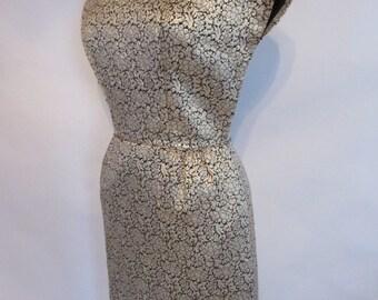 60's Vintage Brocade Gold Dress. Style Statement!