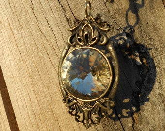 Antique Gold Gypsy Pendant Necklace