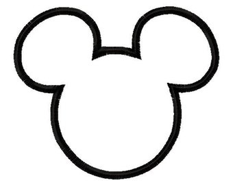 Mr. Mouse Ears Applique Design Machine Embroidery Design 4x4 and 5x7 mickey