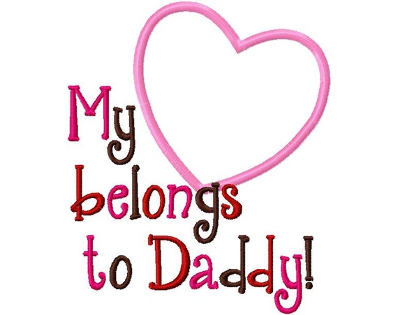 Items Similar To My Heart Belongs To Daddy Valentines Day
