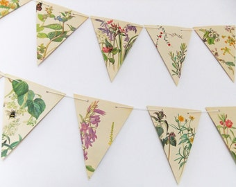 Spring and Summer Bunting - Wedding Garland - English Cottage Decor - Woodland Wedding