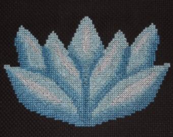 Pattern - Blue Lotus Flower Cross Stitch