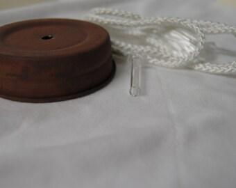 Olde Tyme Mason jar lid w/wick kit