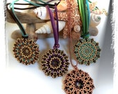 Pendant TUTORIAL with Superduo and seed beads, Giano double pendant TUTORIAL