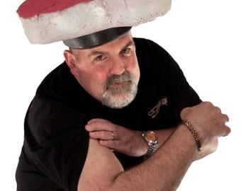 Gag Gifts for Dad - Men's Barbecue T-Bone Steak Meat Head Foam Hat