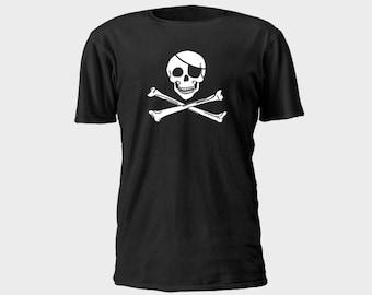 Mens Pirate T-Shirt - Classic Jolly Roger