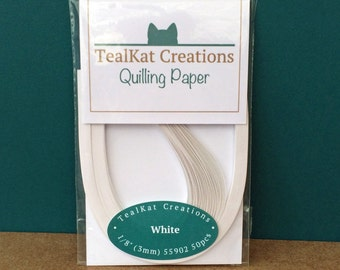 White Quilling Paper