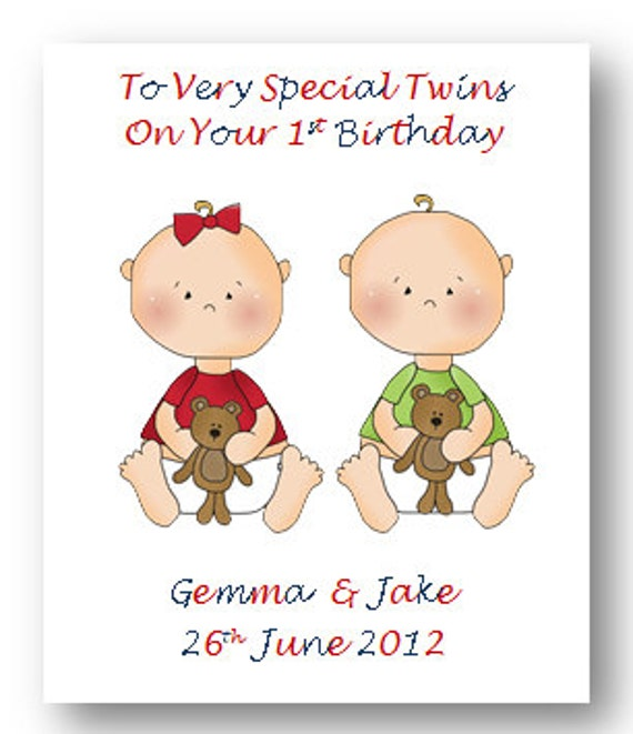 Personalised Babies First 1st Birthday Card 2nd Birthday Card