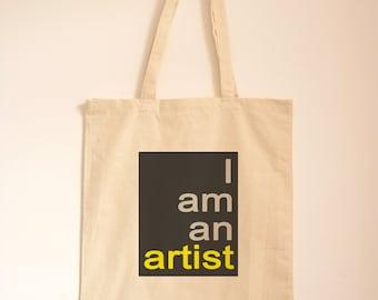 Art Present/ Art Gift/ Cotton Bag/ Quote Tote/ Typography/ Gift Bag/ Artist Eqiupment/ Art Holdall