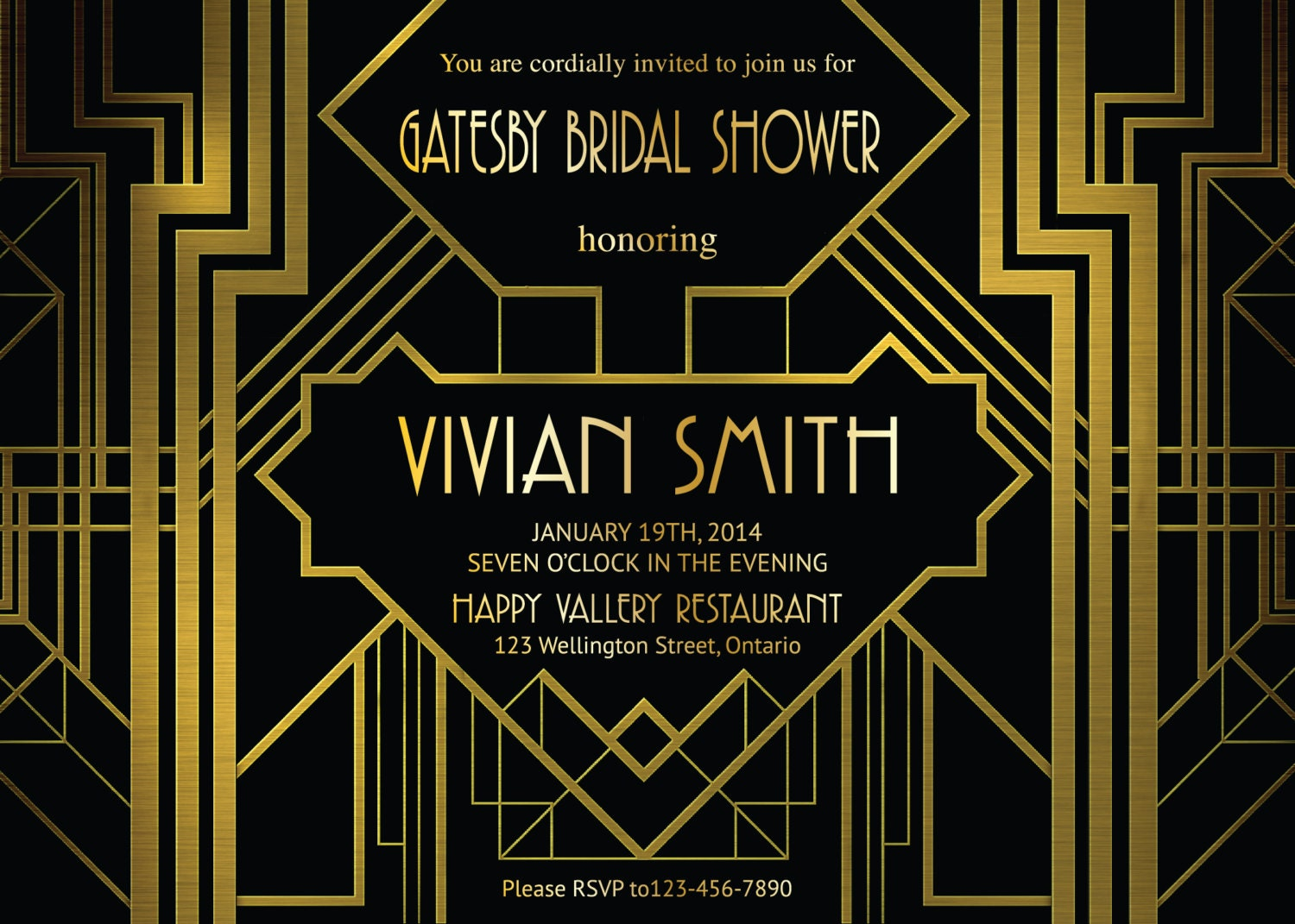 1920s invitation – Art Deco Party Invitations