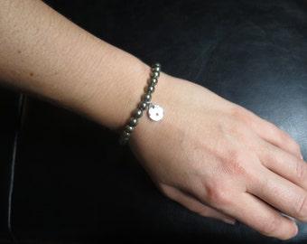 Pyrite bracelet pierre semi précieuse