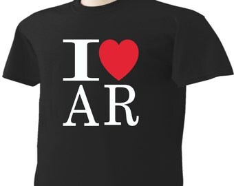 I Love Arkansas T-Shirt Heart AR