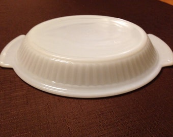 Vintage White Fireking Pie Plate - 1 Available