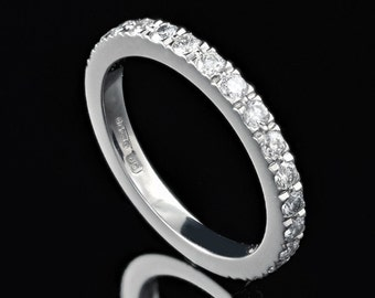 Half Circle Novo Style Diamond Band in Platinum