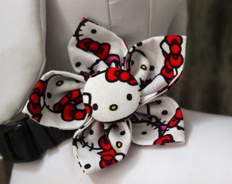 Bow Tie or Flower Collar Attachment & Accessory for Dogs and Cats / Character KITTY