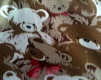 On Sale One Week Only!!Teddy Bear Fleece Fabric By The Yard