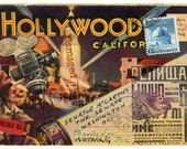 "Original Mail Art, 'Hollywood Joe' Approx. 4.25"" X 6"""