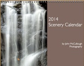 "2014 Scenery Calendar - A 13"" x 21"" wall calendar of familiar local scence."