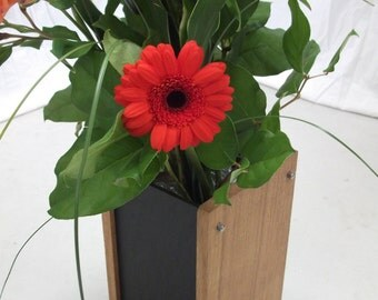 Modern Vase - A Contemporary Design Combining Oak and Slate