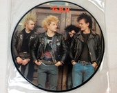Charged GBH vinyl record - Give Me Fire 45 rpm OOP || 80's Punk Rock || Picture Disc Uk Import