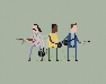 Trevor, Franklin & Michael, Grand Theft Auto V - Cross Stitch Pattern (PDF) - INSTANT DOWNLOAD